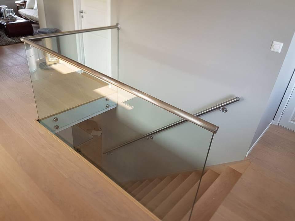 glass til rekkverk utført av Farstad Glass, glassmester i Stavanger